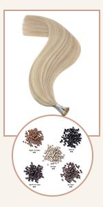 ash blonde hair extensions i tip human hair pre bonded tip hair extensions