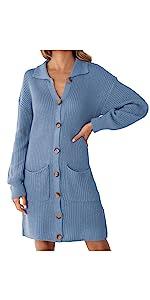Button Down Sweater Dress