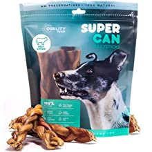 SuperCan Braided Bully Sticks for Dogs best bully sticks natural farm chews for dogs super can