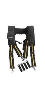 Tool belt work suspenders