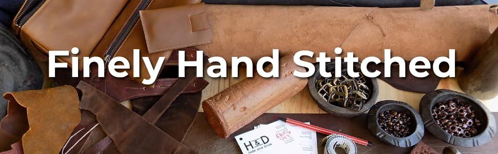 Hide amp; Drink, Vintage Leather Folder Document Holder, File Case, Document Portfolio amp; Binder