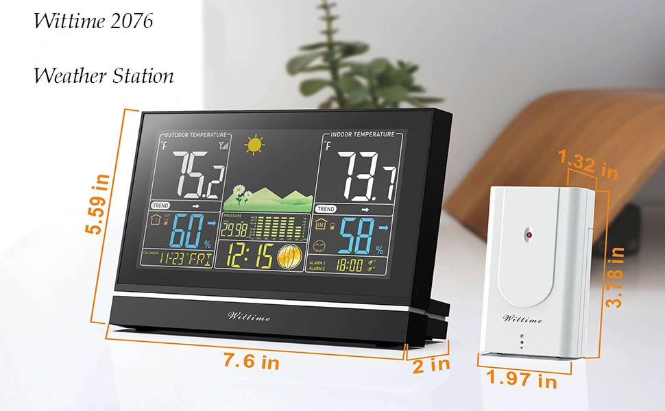 remote sensor for WT-2076 weather station indoor outdoor thermometer wireless outdoor sensor