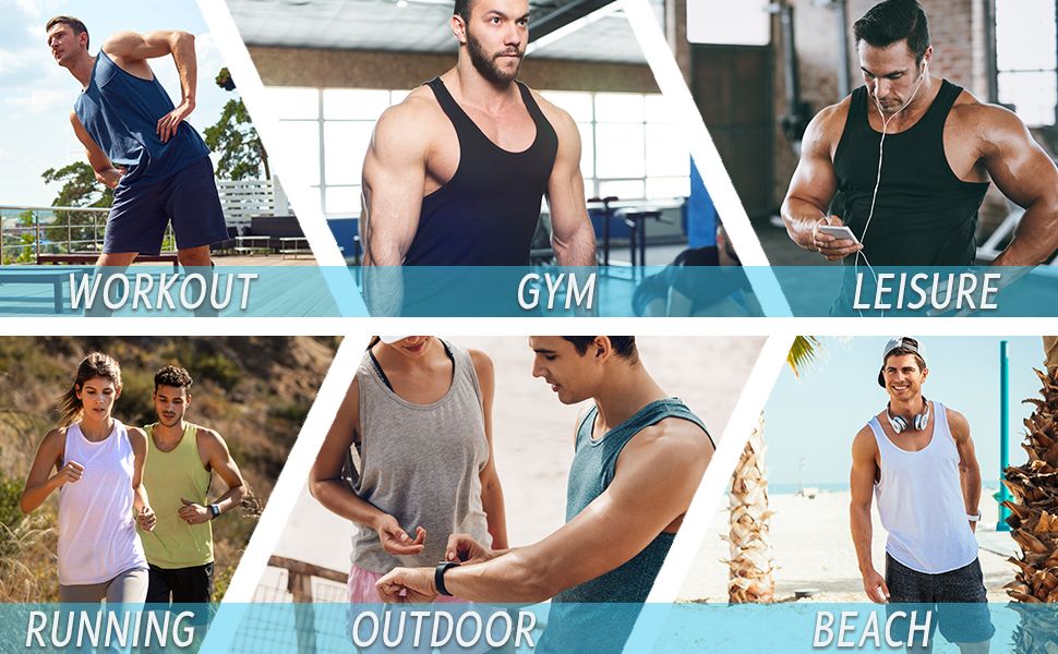 mens training beach swim tank tops undershirt tank tops