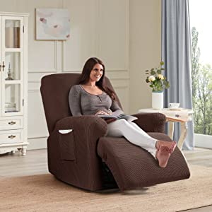Chocolate recliner 1 seat armchair cover