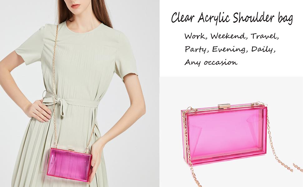 Clear Acrylic purse