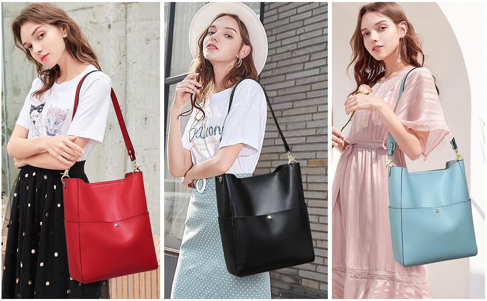 women leather hobo bags