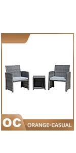 gray wicker chairs