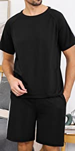 Mens Pajamas Set Short Sleeve 1440