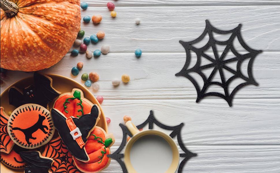 Halloween Black Spider Coaster