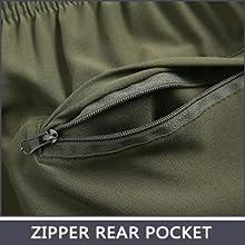 Zipper Rear Pocket