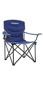KingCamp Folding Camping Chair with Armrest and Cup Holder