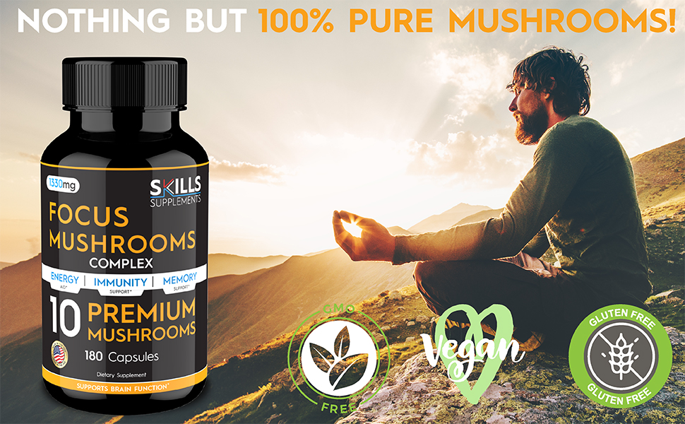 red reishi mushroom capsules mushroom immune support supplement lions main mushroom capsules
