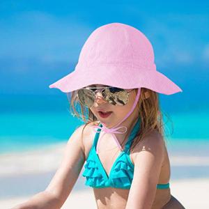 Baby wide brim beach hat