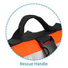 Rescue Handle Allows to pull the dog out of water in an emergency