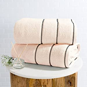 Luxury Cotton Towel Set- 2 Piece Bath Sheet Set