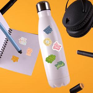 Waterproof Stickers for Water Bottles