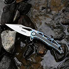 folding pocket knife spring assisted outdoor tactical survival EDC camping business birthday gift