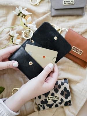 card holder charm, itzy ritzy, itzy ritzy bag charm