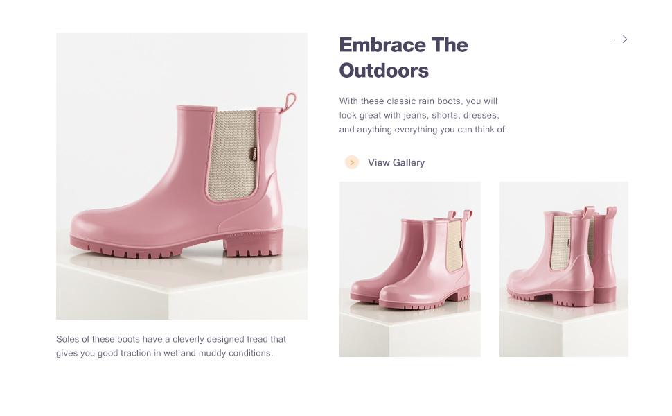 short rain boots for women