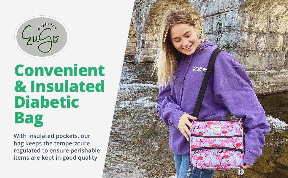 Convenient amp; Insulated Diabetic Bag
