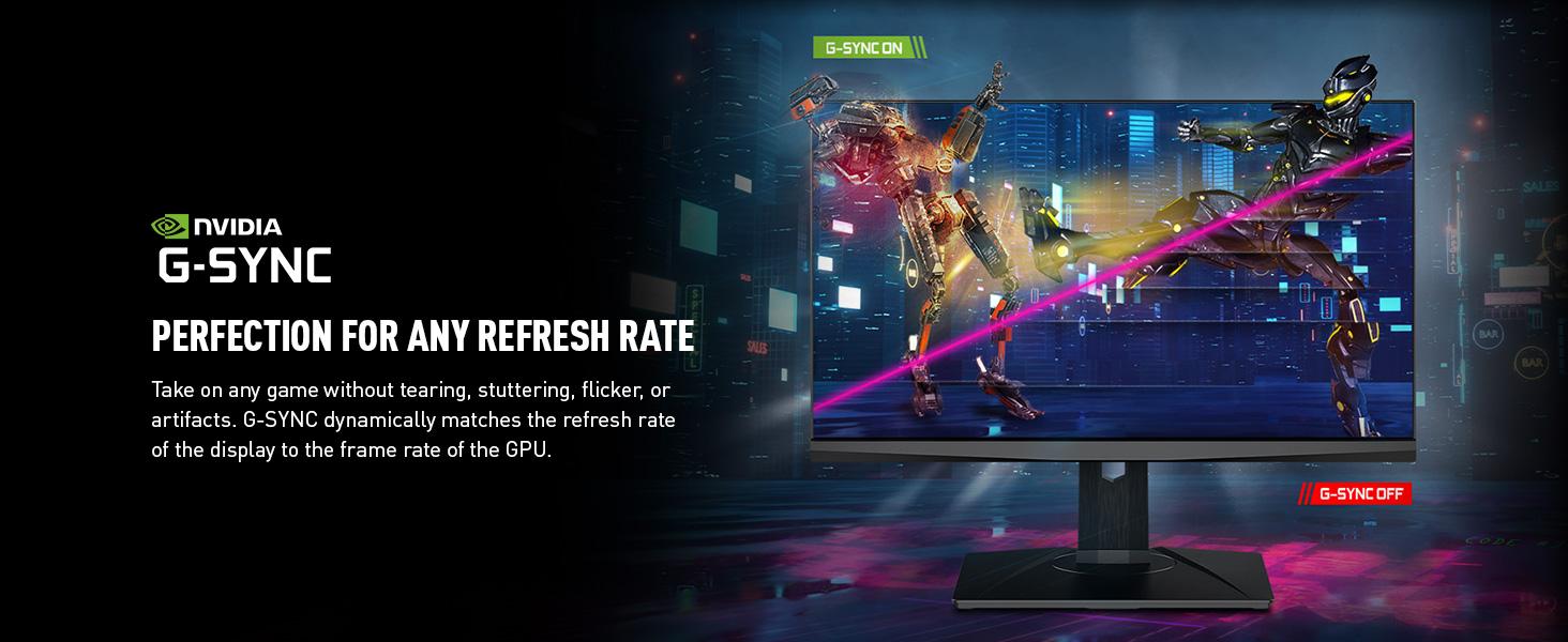 NVIDIA G-Sync no screen tearing