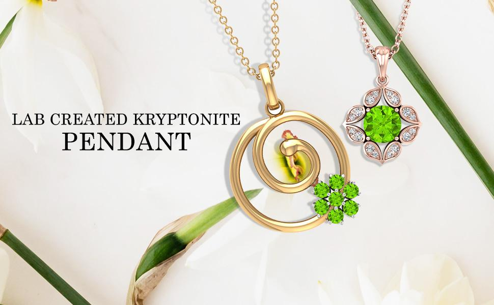Lab Created Kryptonite Pendants