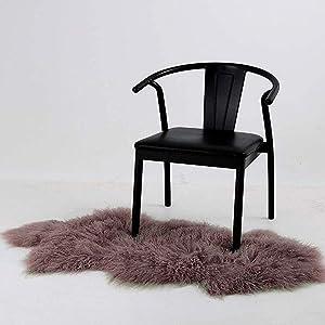 Curly Fur Pelt Throw Fur Area Rug