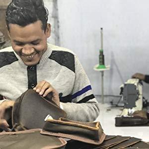 black leather messenger bag for men