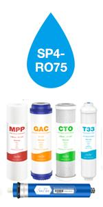 SP4-RO75 5 Stage Water Filter Replacement Set