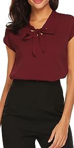 womens work shirts cap sleeve