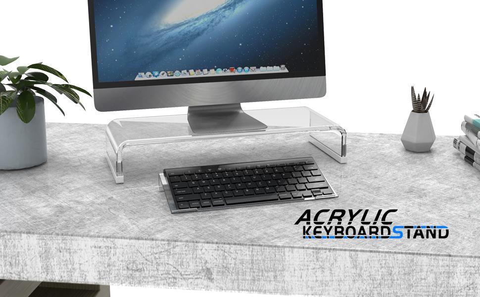 Acrylic keyboard stand for 78 keys