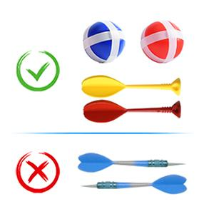 safe kids dart board
