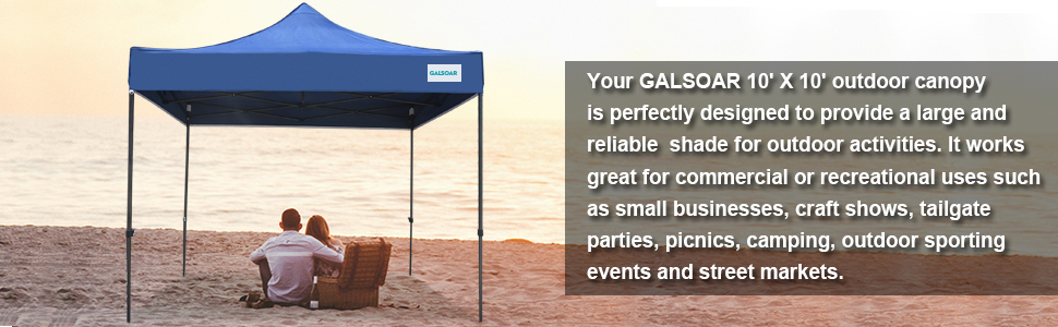 GALSOAR outdoor canopy is perfectly designed to provide a reliable  shade for outdoor activities.