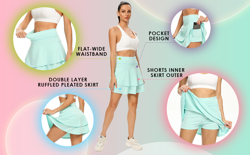 women skorts casual skirts for women knee golf skirts women women's athletic skirts