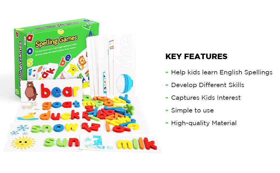 Key Features Spelling Games