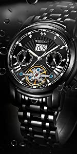 Stainless steel strap multifunctional mechanical movement menamp;amp;amp;amp;#39;s watch