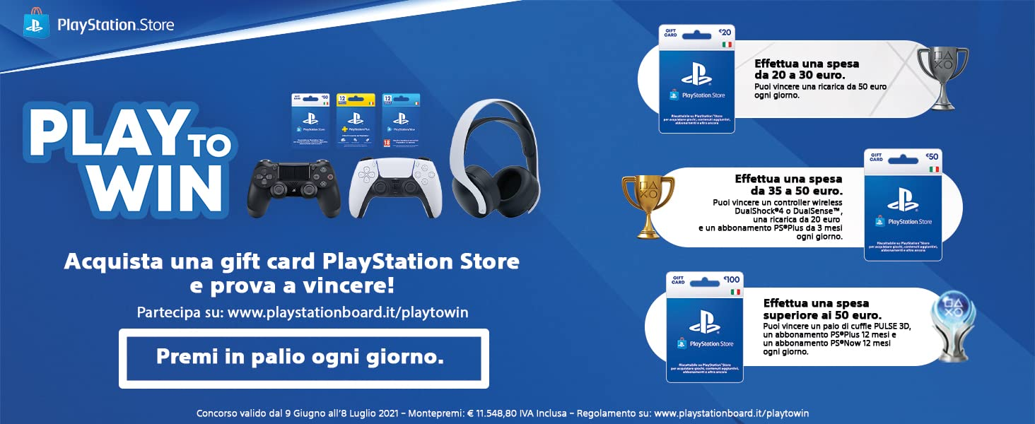 PLAY TO WIN! Acquista una gift card PlayStation Store e prova a vincere!