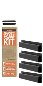 pro office under desk cable management j channel raceway and cord manager for wire organizing