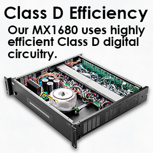 MX1680 Class D Efficiency