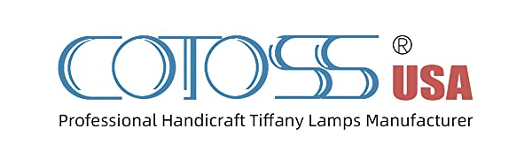 Cotoss tiffany lamp⸴ tiffany table lamp⸴ hanging lamp⸴ floor lamp⸴ stained glass window hangings