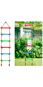 6.8FT Rainbow Rope Ladder