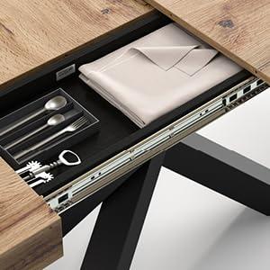 Table Emma - compartiment de rangement