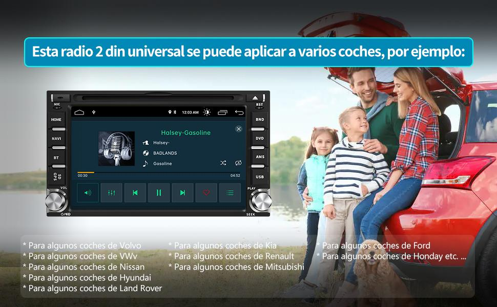 radio gps 2 din pantalla coche 2 din autoradio coche 2 din radio coche 2 din radio navegador 2 din
