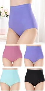 Women's Seamless Silky Brief Cotton Crotch Invisible Panties High Waist Quick Dry