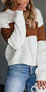 NEYOUQE Knitted Pullover Sweaters for Women Fall Winter Sweater Somens Casual Tops