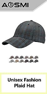 Unisex Fashion Plaid Hat