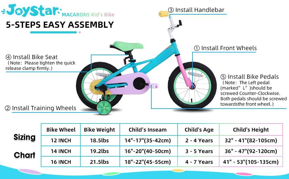 joystar kids bike easy assembly