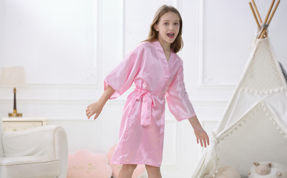 Pink girl robe