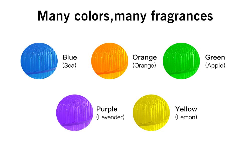 10 Pack Urinal Screen Deodorizer, Premium Urinal Cake Long Bristle Anti-Splash and Anti-Clogging