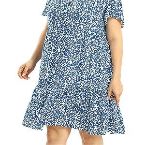 plus size summer dresses for women knee length dress